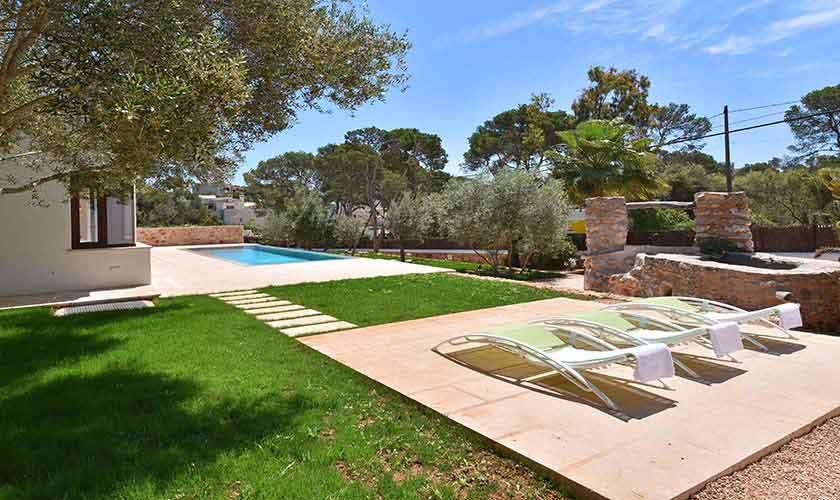 Pool und Garten Ferienhaus Mallorca Südosten PM 6599