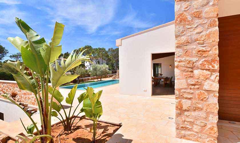 Blick auf das Ferienhaus Mallorca Südosten PM 6599