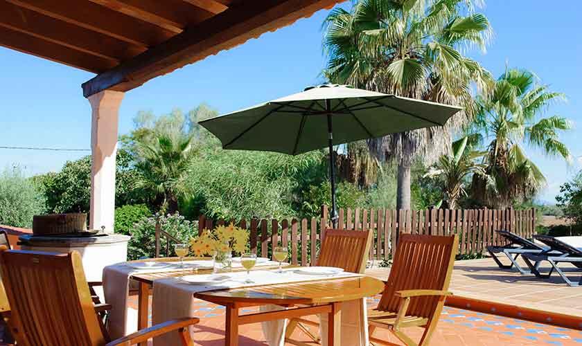 Terrasse Ferienfinca Mallorca 4 Personen PM 6600