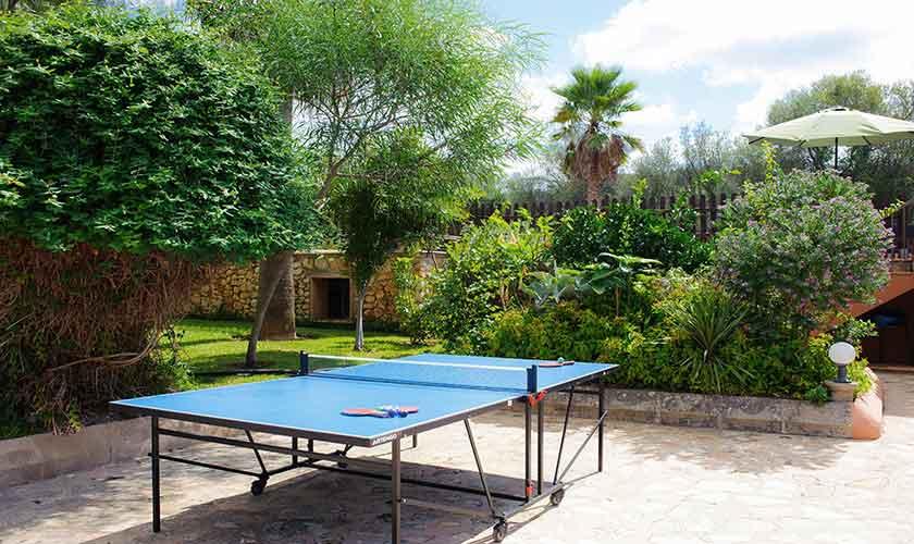Tischtennis Ferienfinca Mallorca 4 Personen PM 6600