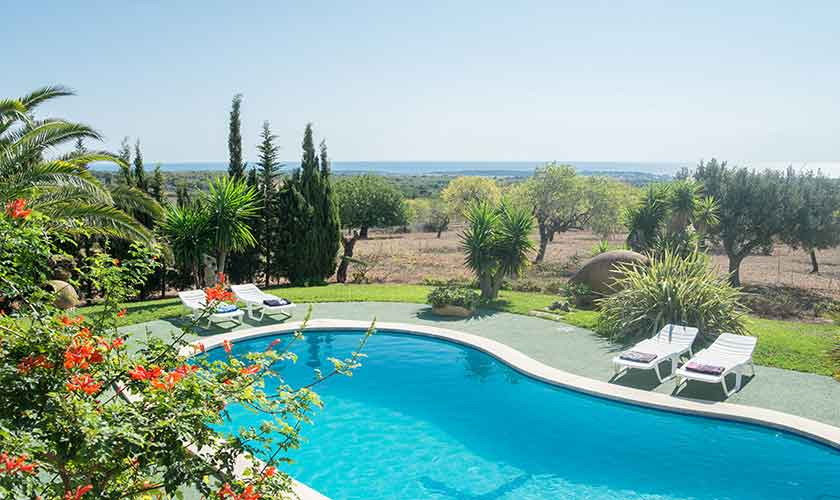 Poolblick und Finca Mallorca PM 6606