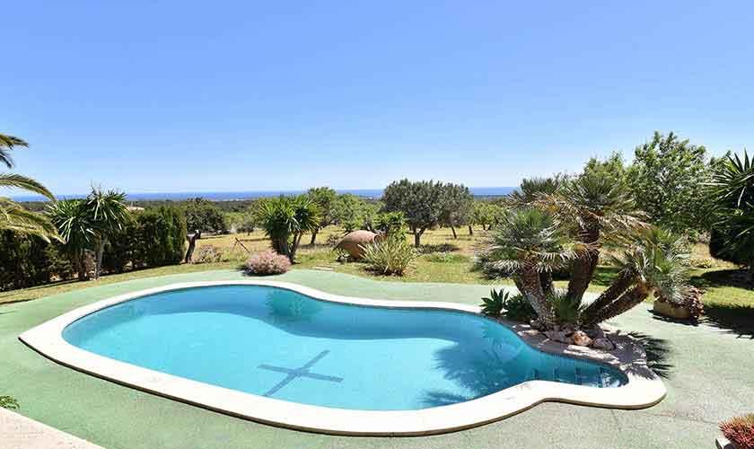 Pool und Landschaft Finca Mallorca PM 6606