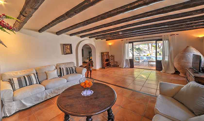 Wohnraum Ferienvilla Mallorca Cala d´Or