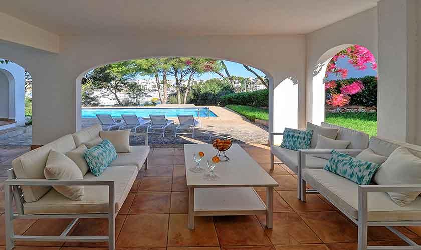 Terrasse Ferienvilla Mallorca Cala d´Or PM 6608