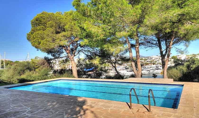 Poolblick Ferienvilla Mallorca Cala d´Or
