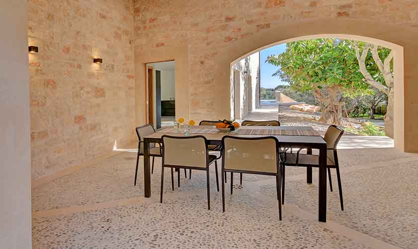 Veranda Ferienhaus Mallorca Ostküste PM 6610