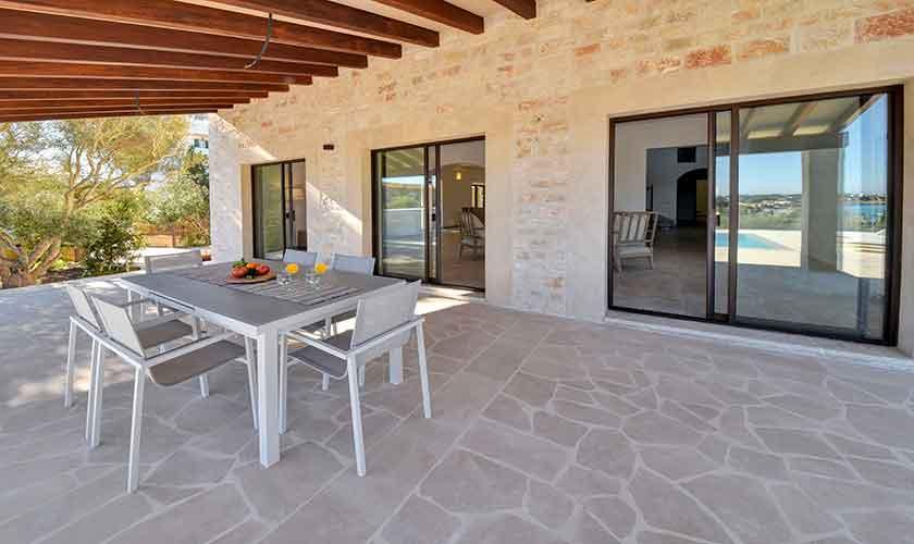 Terrasse Ferienhaus Mallorca Ostküste PM 6610