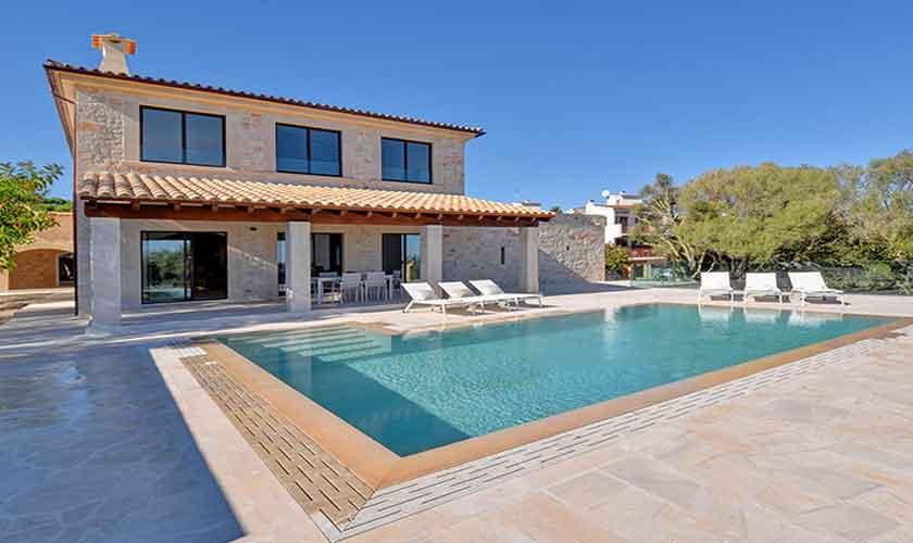 Pool und Terrasse Ferienhaus Mallorca Ostküste PM 6610