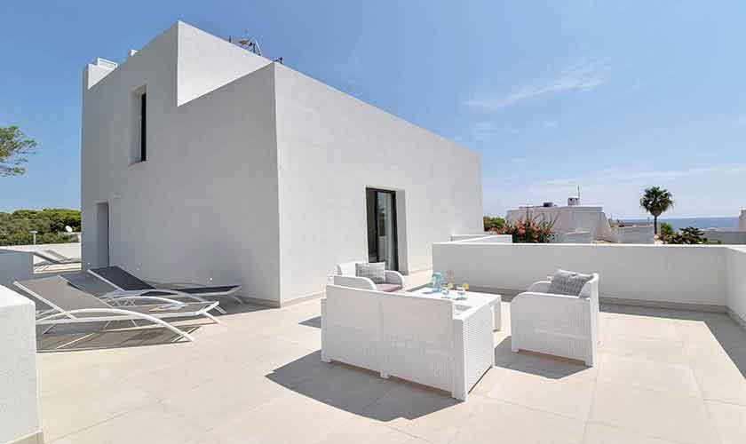 Blick Terrasse oben Ferienvilla Mallorca PM 6617