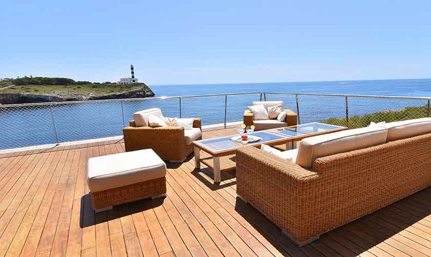 Lounge und Meerblick Villa Mallorca PM 6618