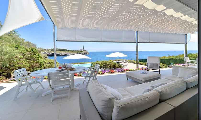 Terrasse und Meerblick Villa Mallorca PM 6618