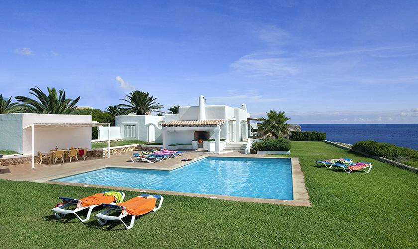 Mallorca Villa Blick auf den Pool PM 6618