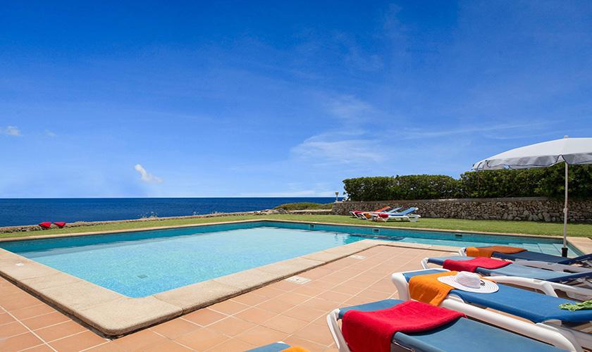 Poolblick Mallorca Villa am Meer PM 6618