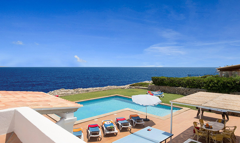 Blick von oben Mallorca Villa am Meer PM 6618