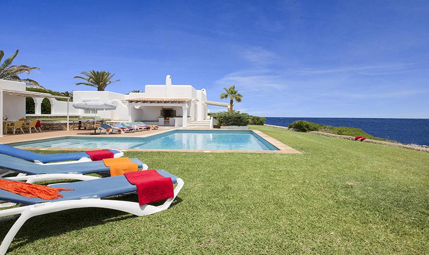 Blick auf die Mallorca Villa am Meer PM 6618