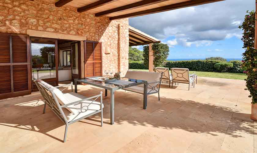 Terrasse Finca Mallorca Südosten PM 6621