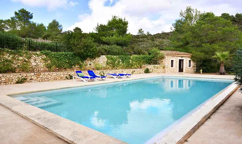 Poolblick Finca Mallorca Südosten PM 6621