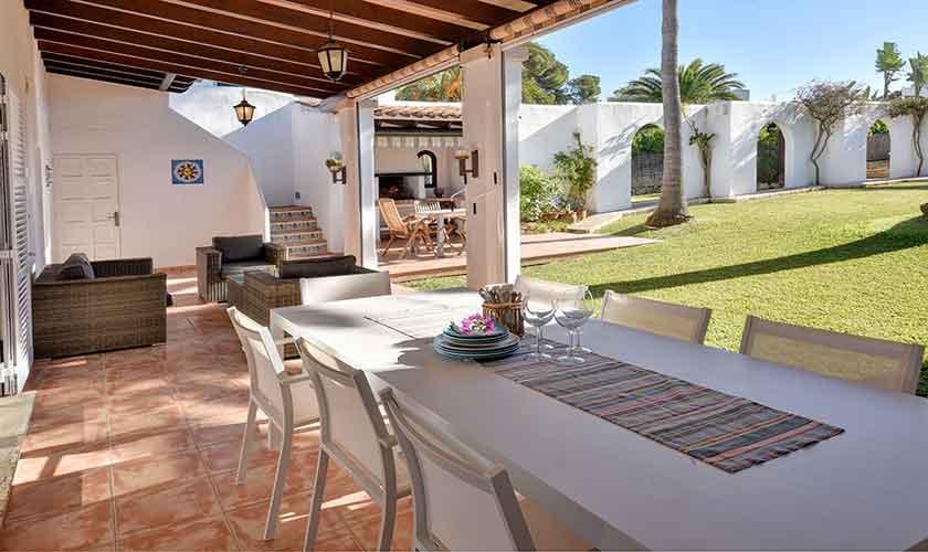 Terrasse Esstisch Ferienhaus Mallorca 6 Personen PM 6623