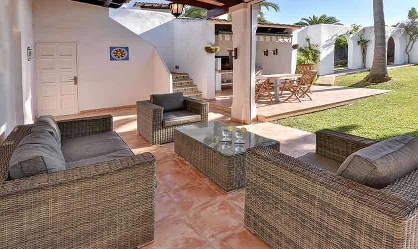 Überdachte Terrasse Ferienhaus Mallorca 6 Personen PM 6623