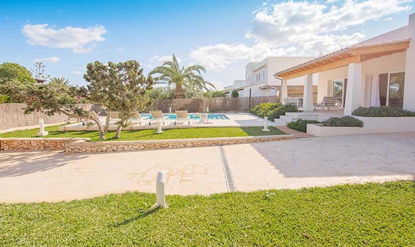 Blick auf die Ferienvilla Mallorca PM 6624