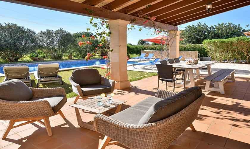 Lounge bereich Terrasse Finca Mallorca für 10 Personen PM 6624