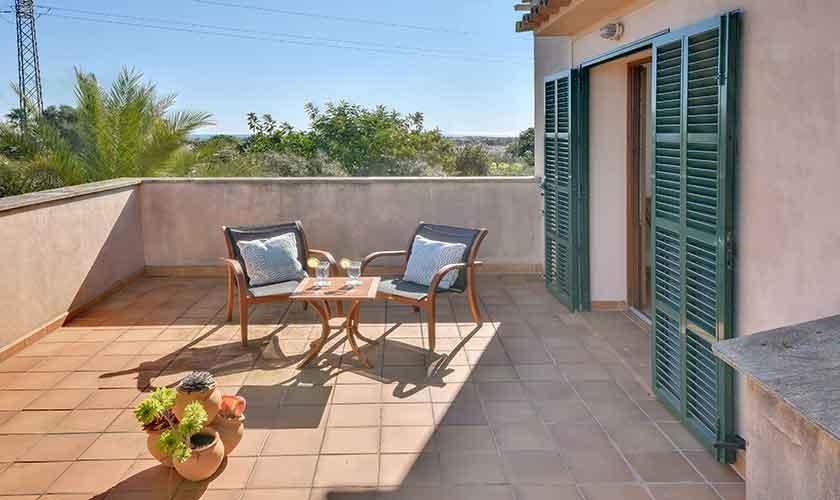 Terrasse oben Finca Mallorca für 10 Personen PM 6624