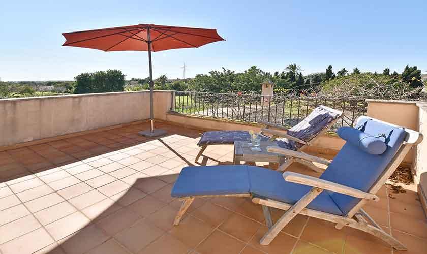 Terrase oben Finca Mallorca für 10 Personen PM 6624