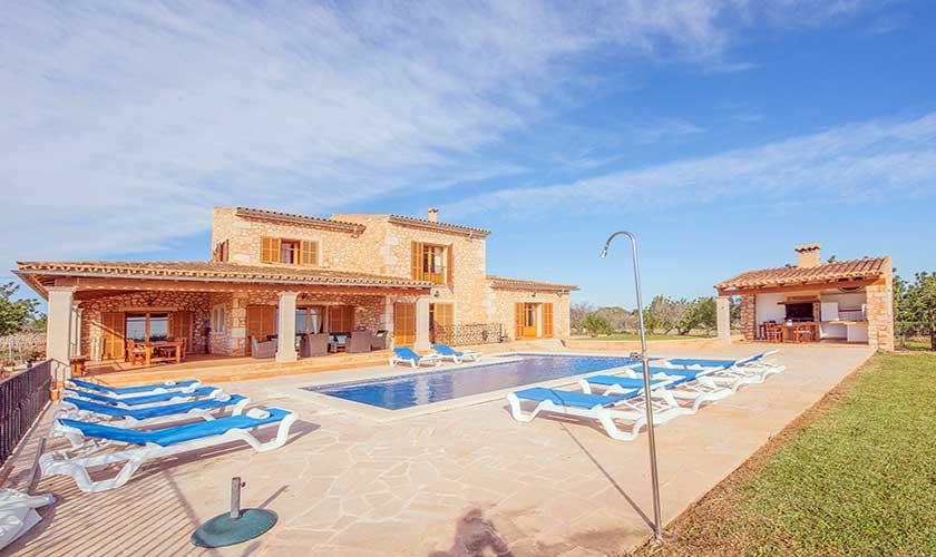 Pool und Liegen Finca Mallorca PM 6625