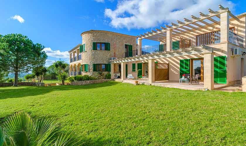 Blick auf die Ferienvilla Mallorca PM 6650