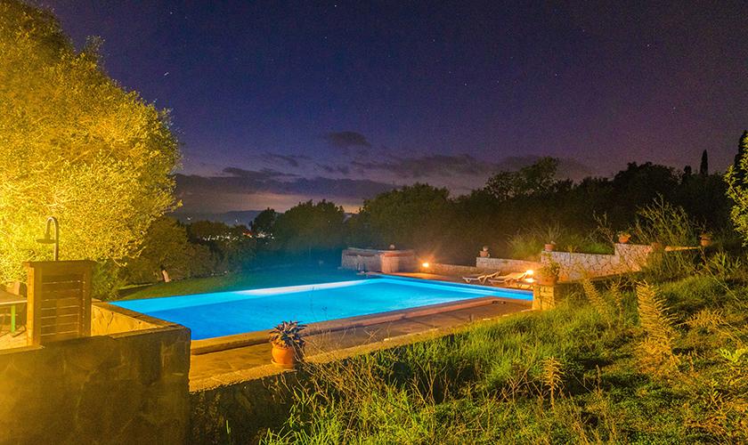 Poolblick Ferienhaus Mallorca 16 Personen PM 6650