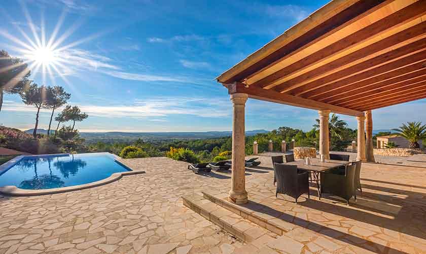 Pool und Terrasse Finca Mallorca bei Felanitx PM 678