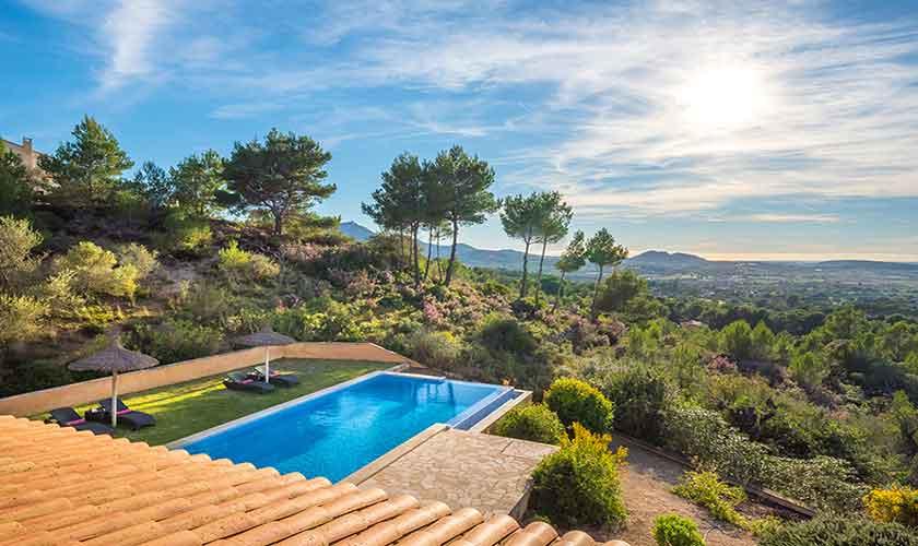 Poolblick Finca Mallorca bei Felanitx PM 678