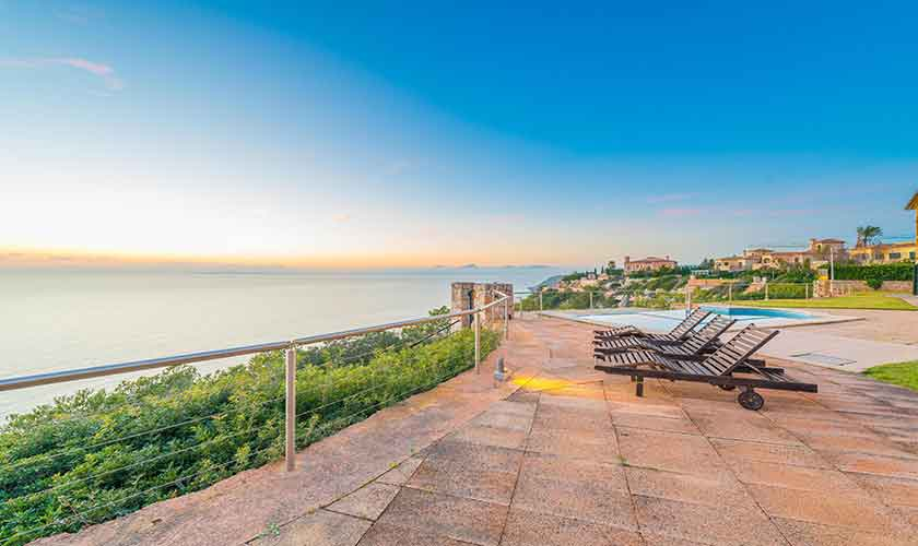 Terrasse und Meerblick Luxusvilla Mallorca PM 6905