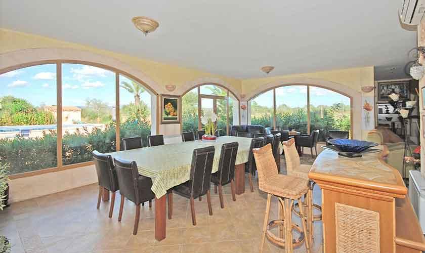 Esstische Ferienhaus Mallorca Süden PM 6910
