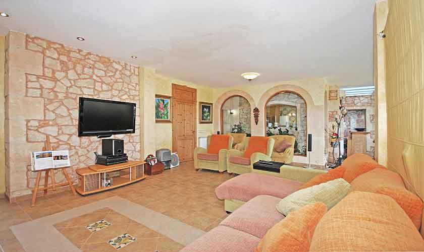 Wohnraum Ferienhaus Mallorca Süden PM 6910