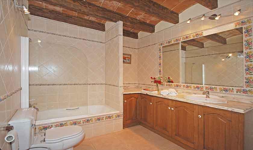 Badezimmer Ferienhaus Mallorca Süden PM 6910