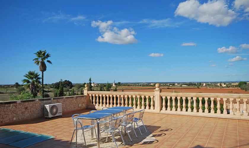 Terrasse Ferienhaus Mallorca Süden PM 6910