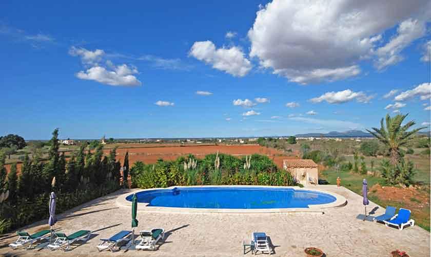 Pool und Landschaft Mallorca Süden PM 6910