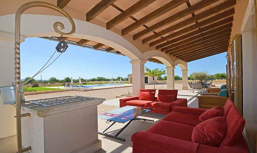 Überdachte Terrasse Finca Mallorca Campos PM 6920