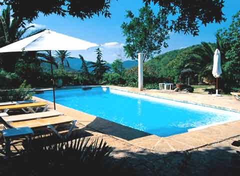 Poolblick Große Finca Mallorca 12 - 20 Personen PM 570