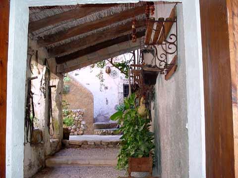 typischer Patio Finca bei Capdepera auf Mallorca Pool 12 Personen PM 570 Fincaferien Mallorca für Familien und Gruppen