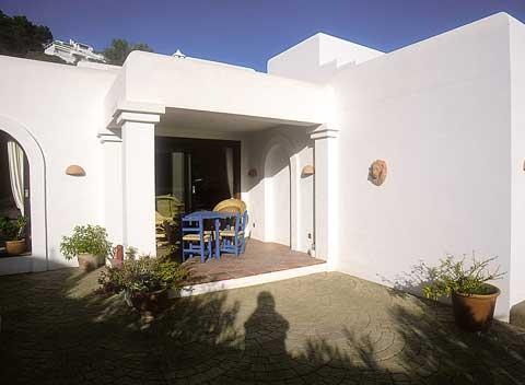 Blick auf die Terrasse Ferienhaus Ibiza 4 Personen IBZ 5