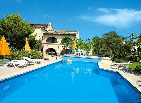 Poolblick Finca Mallorca 8 - 14 Personen mit Tennisplatz PM 551