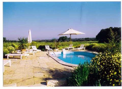 Poolblick Finca Mallorca Ferienwohnung 2 Personen PM 6154