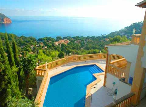 Pool und Meerblick Costa de Canyamel Ferienhaus Mallorca 10 - 11 Personen PM 501