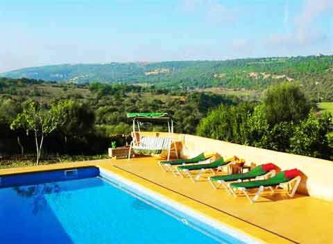 Pool der großen Finca Mallorca für 14 - 20 Personen PM 525