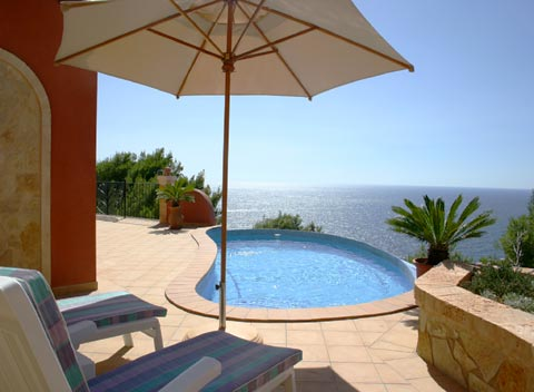 Pool und Meerblick Ferienhaus Mallorca Cala Llamp 2 Personen PM 103 Nr.  68B