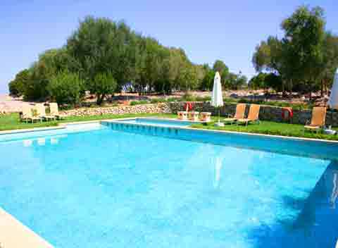 Großer Pool Finca Ferienwohnung Mallorca Vaqueria Pequena 4 Personen PM 600