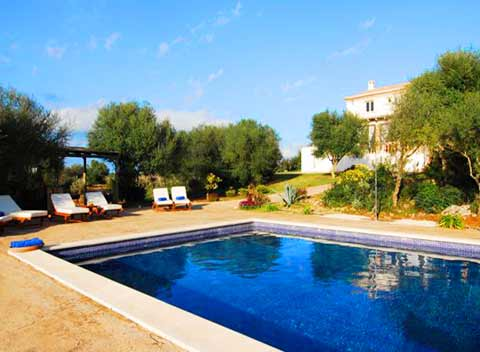 Poolblick exklusives Ferienhaus Mallorca 12 Personen PM 526