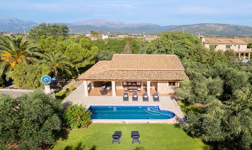 Blick auf die Finca Mallorca Norden PM 3999